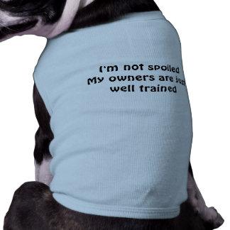 Ropa estropeada del mascota playera sin mangas para perro