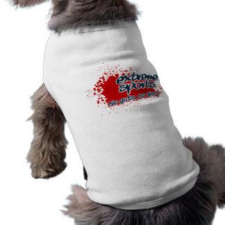 Ropa extrema del mascota de los deportes playera sin mangas para perro