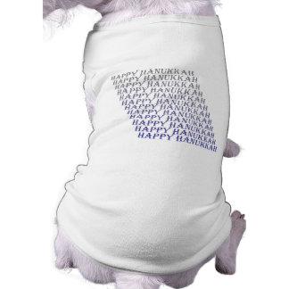 Ropa feliz del mascota de Jánuca Playera Sin Mangas Para Perro