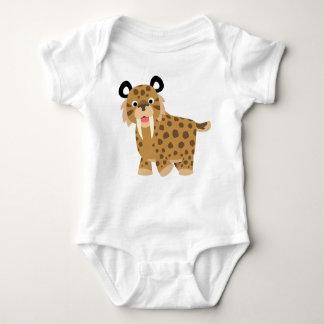 Ropa feliz linda del bebé de Smilodon del dibujo Body Para Bebé