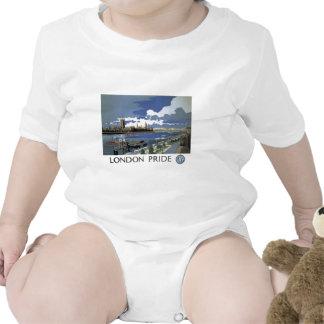 Ropa ferroviaria británica del vintage trajes de bebé