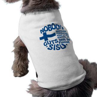 Ropa finlandesa del mascota de SISU Playera Sin Mangas Para Perro