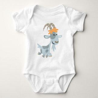 Ropa fresca linda del bebé de la cabra del dibujo camisas