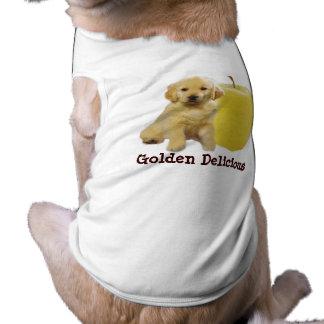 """Ropa """"golden delicious"""" del mascota playera sin mangas para perro"""
