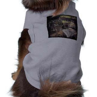 Ropa gris personalizada foto del mascota de playera sin mangas para perro