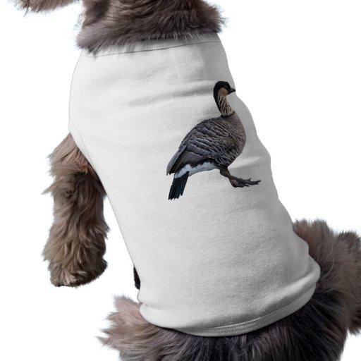 Ropa hawaiana del mascota del ganso (Nene) Playera Sin Mangas Para Perro