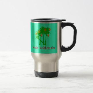 Ropa hawaiana del navidad de Mele Kalikimaka Taza De Viaje
