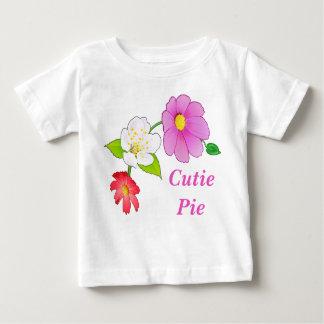 Ropa infantil hawaiana floral de las camisetas de remeras