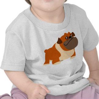Ropa inglesa linda del bebé del dogo camiseta