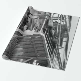 Ropa interior hacia fuera a secarse papel de regalo