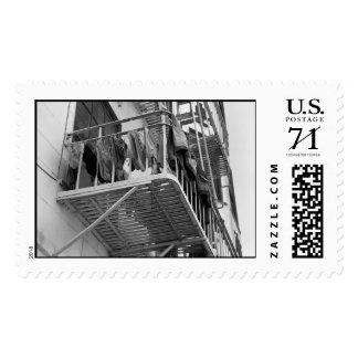 Ropa interior hacia fuera para secar - el sello