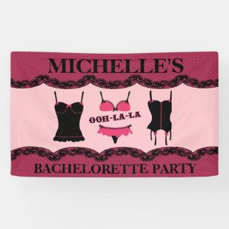 Ropa interior rosada, fiesta de Bachelorette Lona