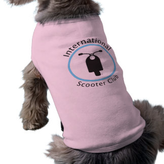 Ropa internacional del perro del club de la vespa ropa de perro