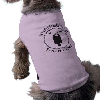 Ropa internacional del perro del club de la vespa camisas de perritos