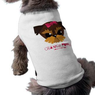 ropa irritable del mascota del perrito camisas de mascota