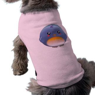 Ropa linda del mascota del bluebird del kawaii playera sin mangas para perro