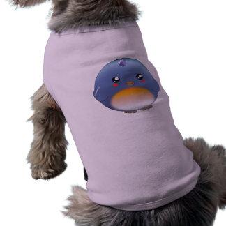 Ropa linda del mascota del bluebird del kawaii camisa de mascota