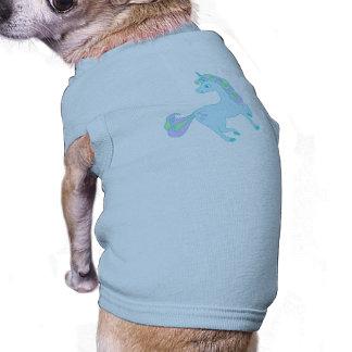 ropa linda del mascota del unicornio camiseta sin mangas para perro