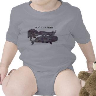 Ropa linda del niño de las ballenas grises camisetas