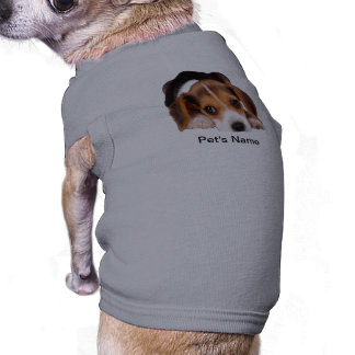 Ropa linda y adorable del perro del beagle playera sin mangas para perro