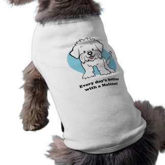 Ropa maltesa del mascota del dibujo animado lindo ropa de perro