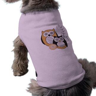 Ropa moderna del mascota de los búhos playera sin mangas para perro
