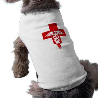 Ropa profesional médica del mascota playera sin mangas para perro