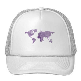Ropa púrpura del mapa del wolrd del príncipe gorra