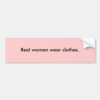 Ropa real de la ropa de mujer etiqueta de parachoque