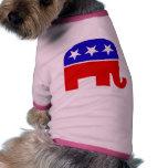 Ropa republicana del mascota del elefante camisa de perrito