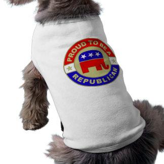 Ropa republicana orgullosa del mascota playera sin mangas para perro