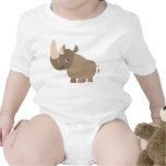 Ropa reservada del bebé del rinoceronte del dibujo traje de bebé
