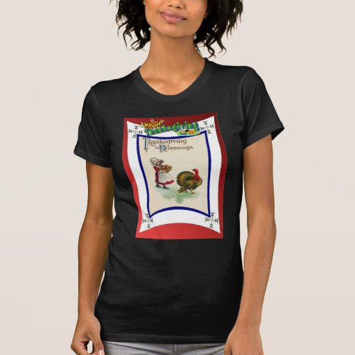 Ropa retra de la acción de gracias del diseño camisetas
