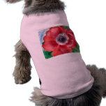 Ropa roja del mascota de la amapola camisa de perrito