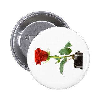 Ropa Rosa-Automática de Origami Pin Redondo De 2 Pulgadas