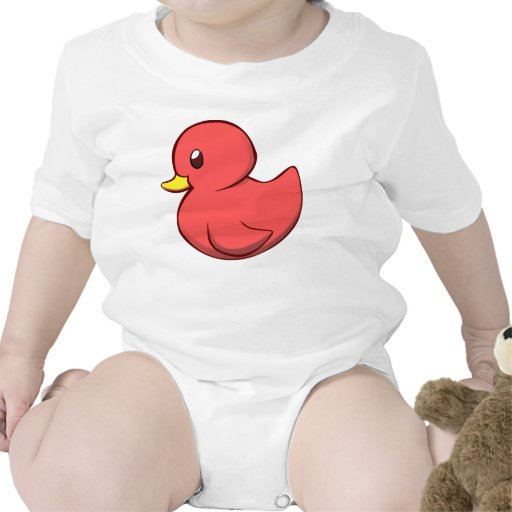 Ropa rosada del bebé del pato camiseta