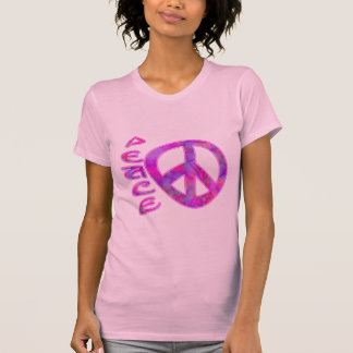 Ropa rosada del símbolo de paz camisetas