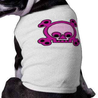 Ropa rosada punky descarada del mascota de Skully Playera Sin Mangas Para Perro