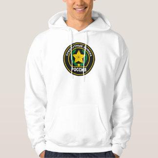 Ropa rusa de las fuerzas de tierra suéter con capucha