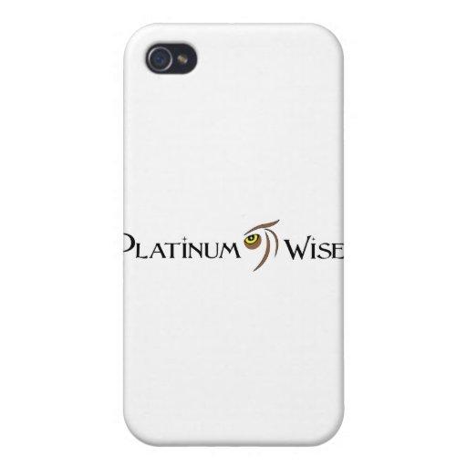 Ropa sabia Co. del platino iPhone 4/4S Fundas