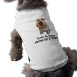 Ropa tan linda del mascota de Yorkshire Terrier Camisetas Mascota