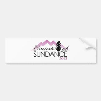 Ropa, tazas de café, conciertos en el sundance etiqueta de parachoque