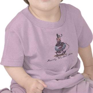 Ropa temática del bebé del viejo duende de la madr camisetas