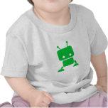 Ropa verde del bebé del robot del bebé camiseta