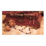 Ropa vintage plantillas de tarjetas de visita
