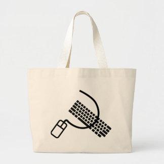 ropa y accesorios del friki del ratón y del teclad bolsa tela grande