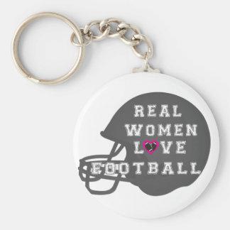 Ropa y accesorios del fútbol del amor de las mujer llavero