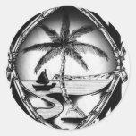 Ropa y accesorios del sello de Guam Pegatina Redonda