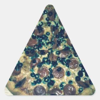 Ropa y artículos de la pizza del Grunge Pegatina Triangular