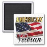 Ropa y regalos americanos del veterano imanes para frigoríficos